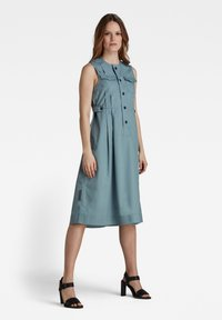 G-Star - FIT AND FLARE - Shirt dress - light bright nickel - 0