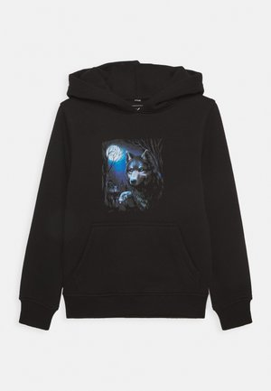 KIDS WOLF HOODY - Sweat à capuche - black