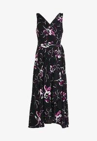 DKNY - HANDKERCHIEF DRESS - Jersey dress - black/berry - 4