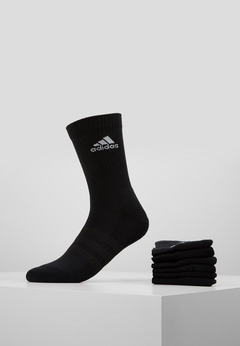 adidas Performance - CUSH 6 PACK - Sports socks - black