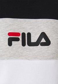 Fila - AMINA BLOCKED CREW - Felpa - bright white/black/light grey melange - 2