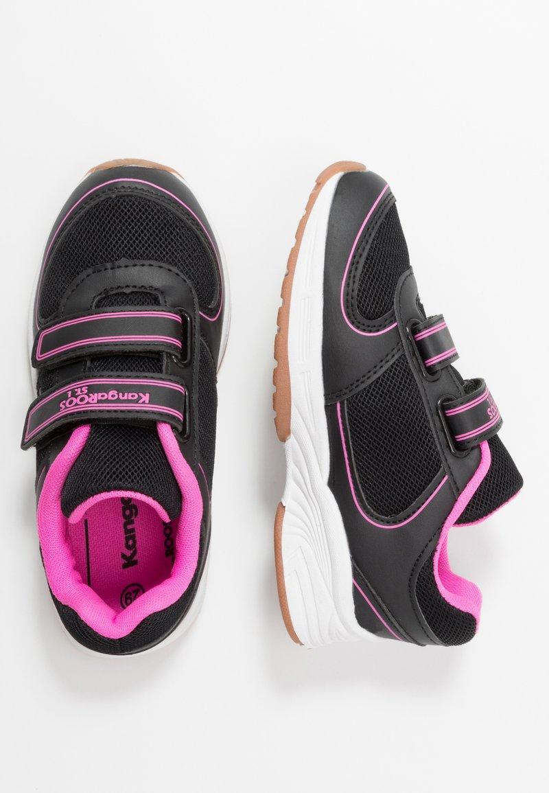 KangaROOS - SINU - Baskets basses - jet black/daisy pink