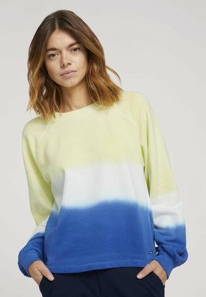 CROPPED RAGLAN - Mikina - yellow blue dip dye