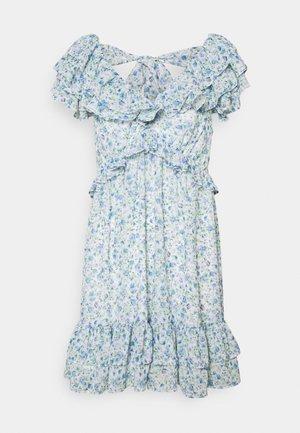 POLLY RUFFLE MINI DRESS - Korte jurk - heather ditsy
