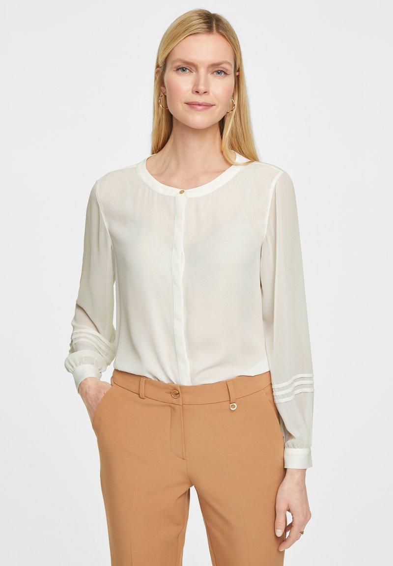 comma - Button-down blouse - white
