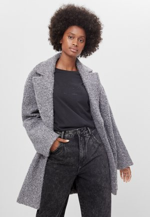MIT GERADEM SCHNITT - Manteau court - light grey