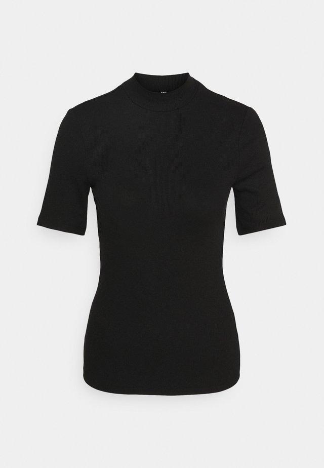 PCBIRDIE T-NECK - Print T-shirt - black