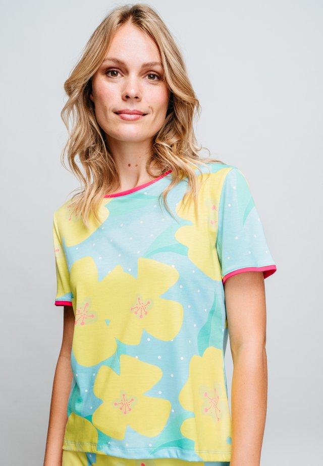 T-shirt imprimé - yellow/blue