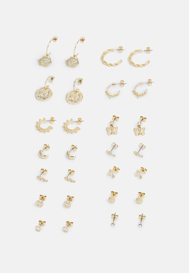 MILLA EARRINGS 14 PACK - Boucles d'oreilles - gold-coloured