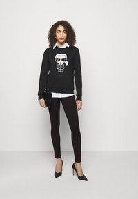 KARL LAGERFELD - CONTRAST PANEL  - Legginsy - black - 1