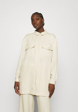 ELOISE LONG OVERSIZE - Button-down blouse - oyster grey
