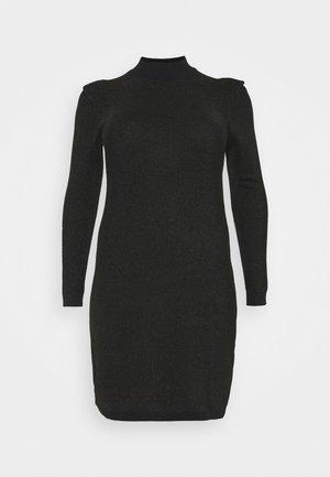 VMALYSSA HIGHNECK DRESS - Pletené šaty - black