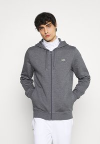 Lacoste - CLASSIC HOODIE - Zip-up hoodie - pitch chine/graphite sombre - 0