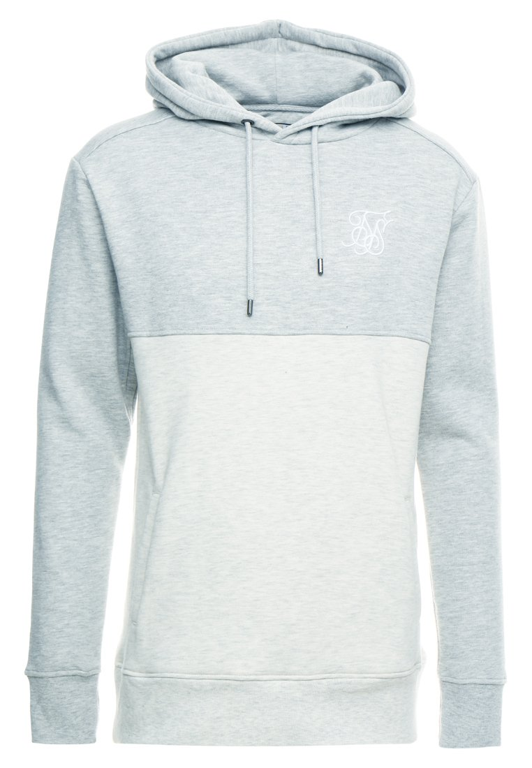 Siksilk Drop Shoulder Cut Sew Hoodie - Grey Marl Off-white/grå-melert