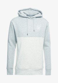 SIKSILK - DROP SHOULDER CUT SEW HOODIE - Hoodie - grey marl off-white - 3