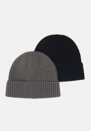 2 PACK - Beanie - black/dark grey