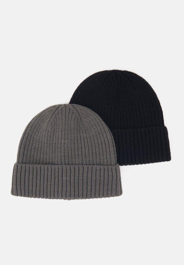 2 PACK - Mössa - black/dark grey