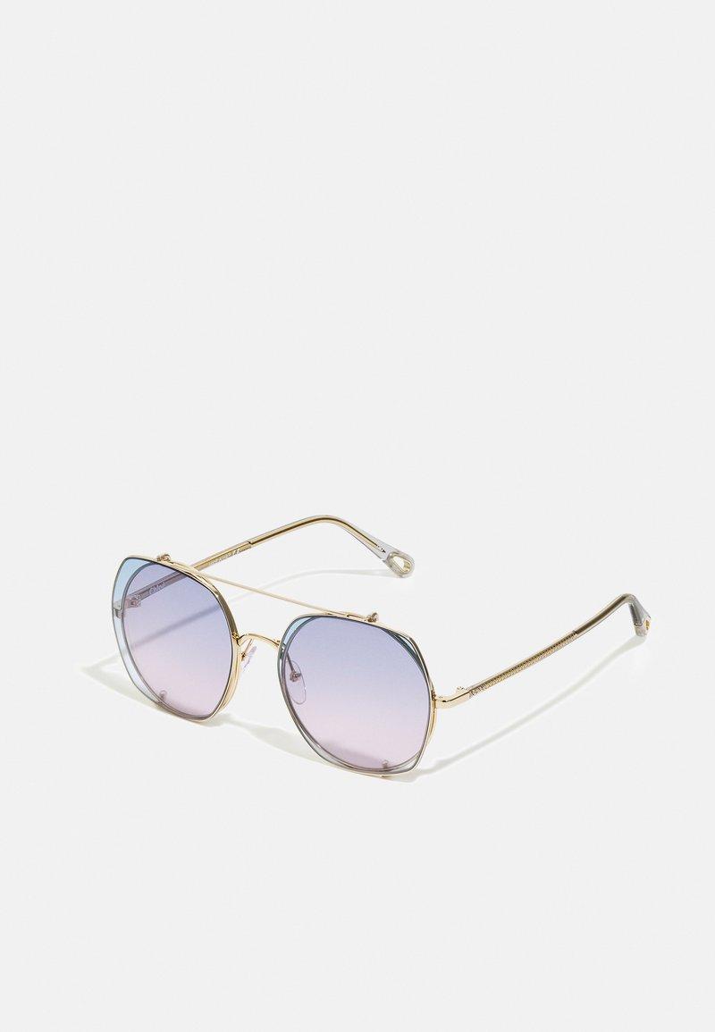 CHLOÉ - Sunglasses - gold-coloured/grey/light blue