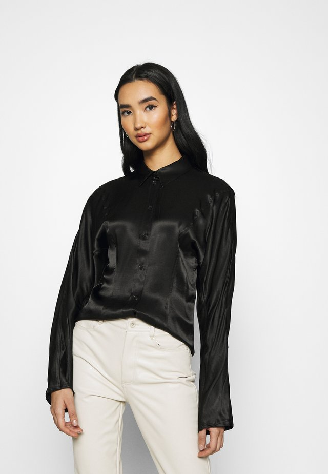 BENEDICTE BLOUSE - Button-down blouse - black
