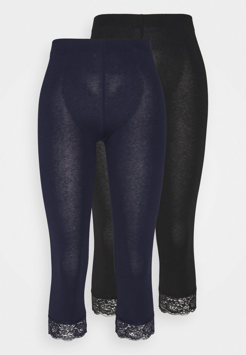 Anna Field Tall - 2 PACK - Leggings - Trousers - black/dark blue