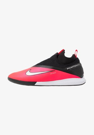 REACT PHANTOM VISION 2 PRO DF IC - Futsal-kengät - laser crimson/metallic silver/black
