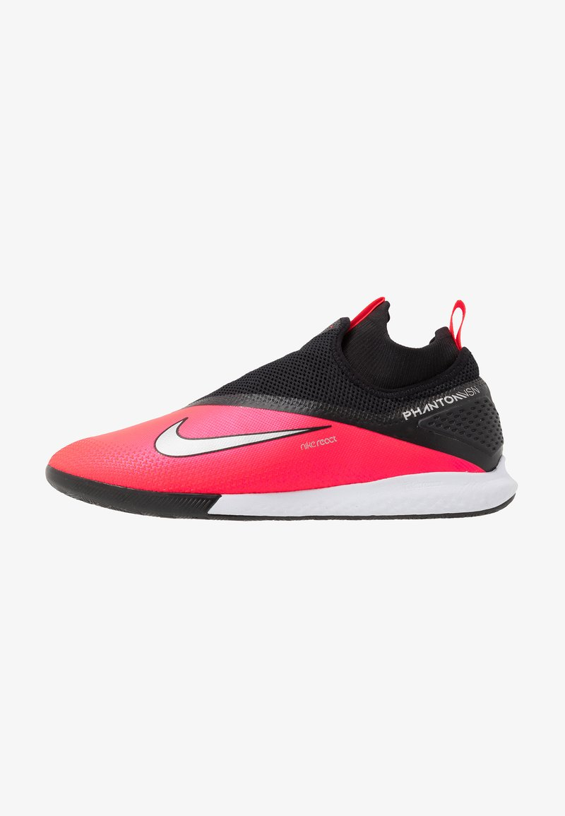 Nike Performance - REACT PHANTOM VISION 2 PRO DF IC - Indoor football boots - laser crimson/metallic silver/black