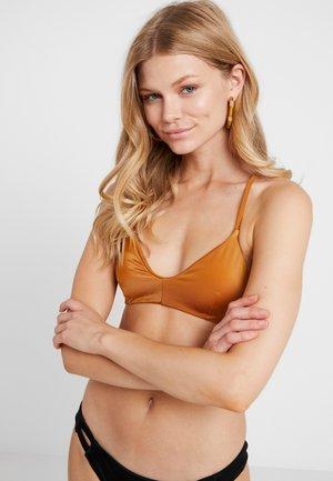 SOLID CROSS BACK - Bikini top - spice