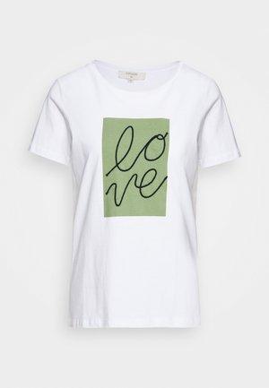 FLORA - Print T-shirt - snow white