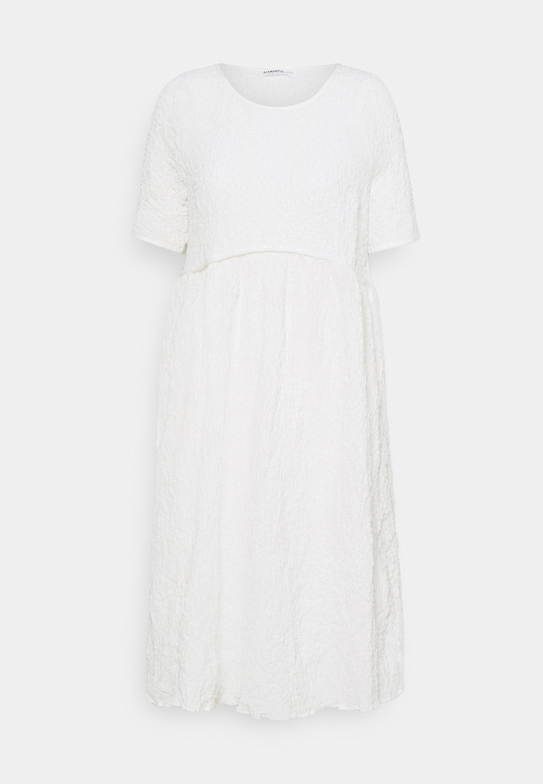 Women TIERED MIDAMI DRESSES WITH 1/2 SLEEVES AND ROUND NECKLINE - Day dress