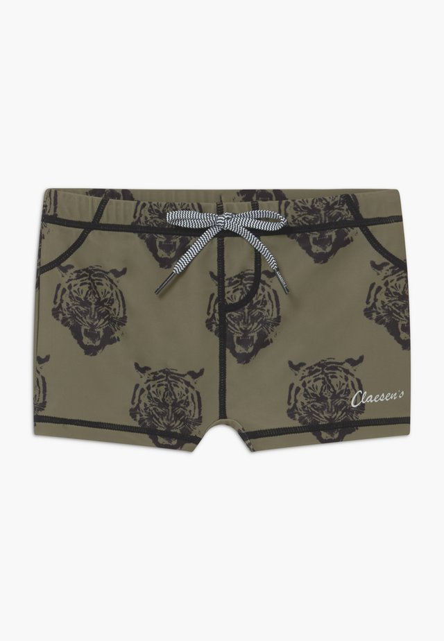 BOYS TIGHT FIT  - Swimming trunks - brown