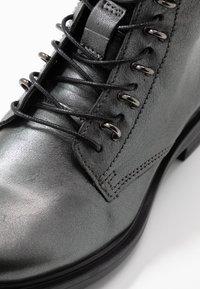 MJUS - Šněrovací kotníkové boty - gunmetal - 2