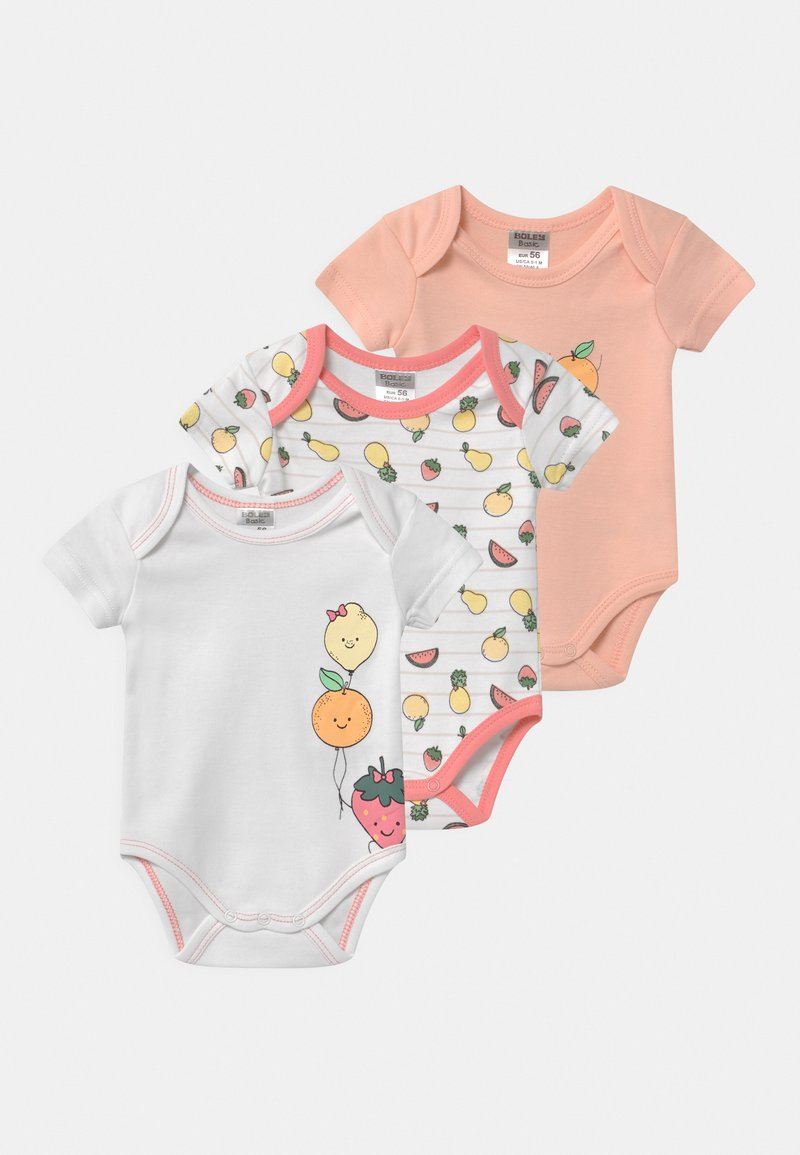 Jacky Baby - GIRLS 3 PACK - Body - light pink/white