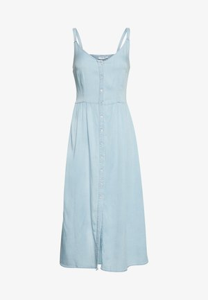 VIBISTA STRAP MIDI DRESS - Vestito estivo - light blue denim