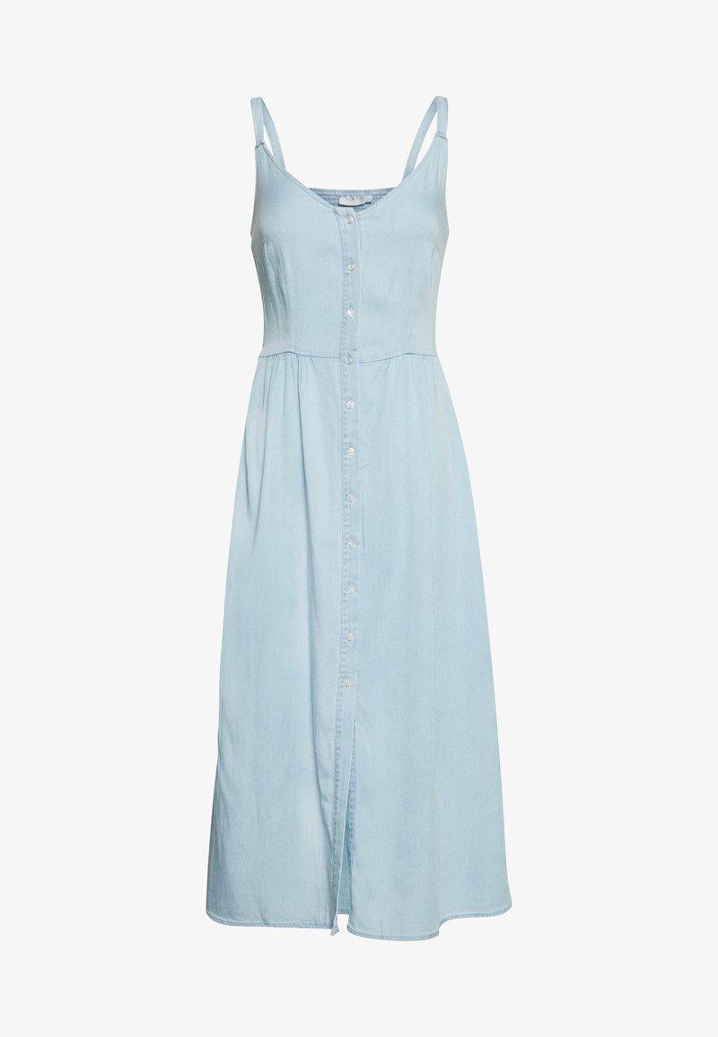Vila - VIBISTA STRAP MIDI DRESS - Kjole - light blue denim