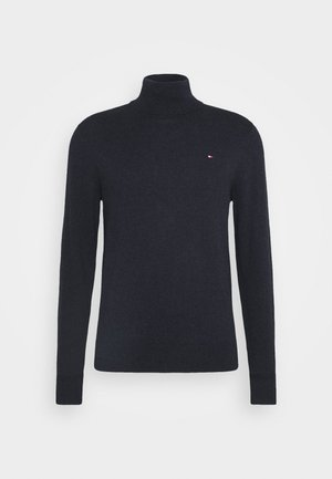 PIMA ROLL NECK - Sweter - black heather