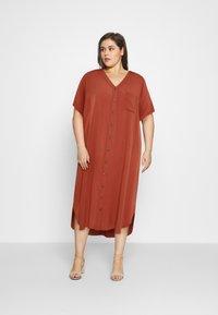 ONLY Carmakoma - CARNEWDENIZIA CALF DRESS - Shirt dress - arabian spice - 1