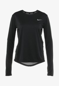 Nike Performance - MILER - Funktionsshirt - black/reflective silver - 4
