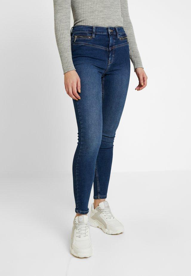 BIKER JAMIE - Skinny džíny - indigo