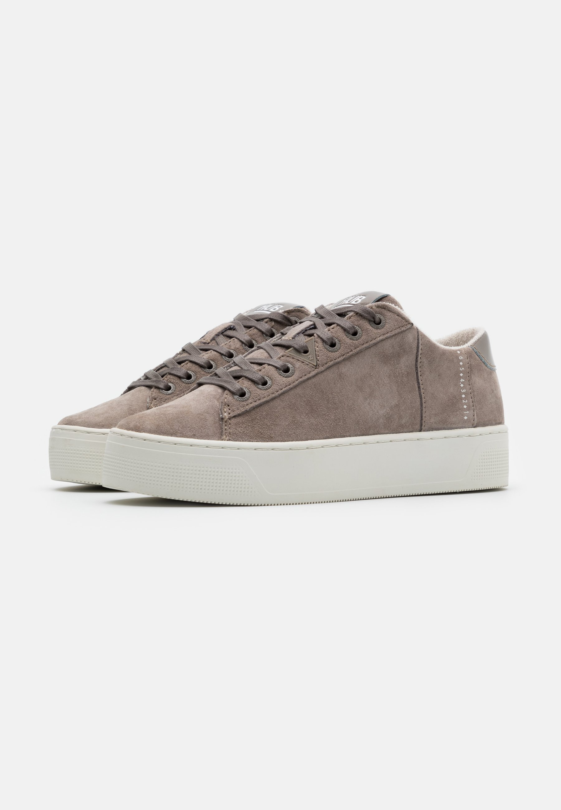 HUB HOOK  Sneaker low dark taupe/offwhite/taupe