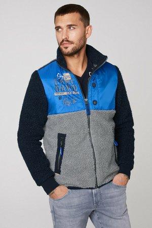 MATERIAL- UND FARBMIX - Fleece jacket - blue navy
