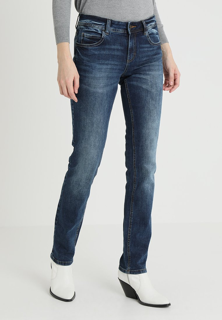TOM TAILOR - ALEXA - Straight leg jeans - mid stone wash denim blue