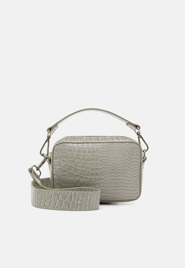 GLAZE CROCO - Across body bag - light grey