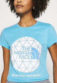 The North Face - GEODOME TEE - Print T-shirt - ethereal blue - 4