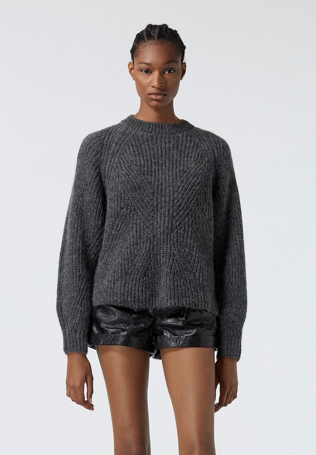 Sweter - grey antracite