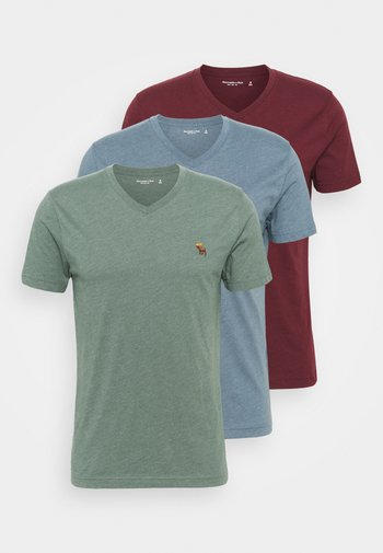 ICON 3 PACK - T-shirt - bas - burgundy/blue/green
