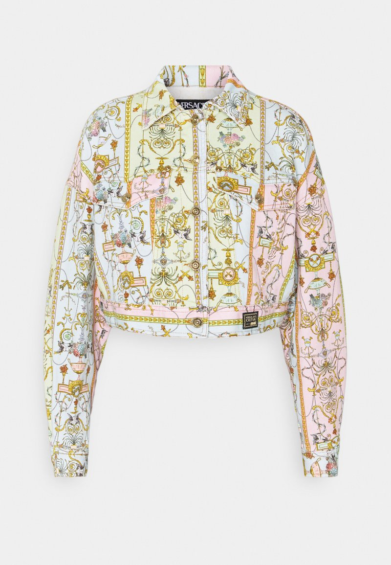 Versace Jeans Couture - LADY JACKET - Denim jacket - blue bell/pink confetti/light green