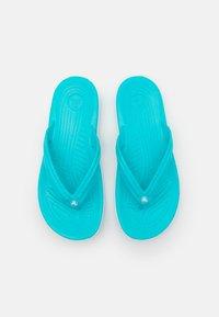 Crocs - CROCBAND FLIP UNISEX - Pool shoes - digital aqua - 3