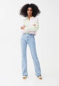 PULL&BEAR - Button-down blouse - mottled light pink - 1