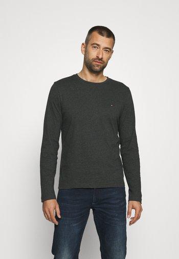 LOGO LONG SLEEVE TEE - Pitkähihainen paita - dark grey heather