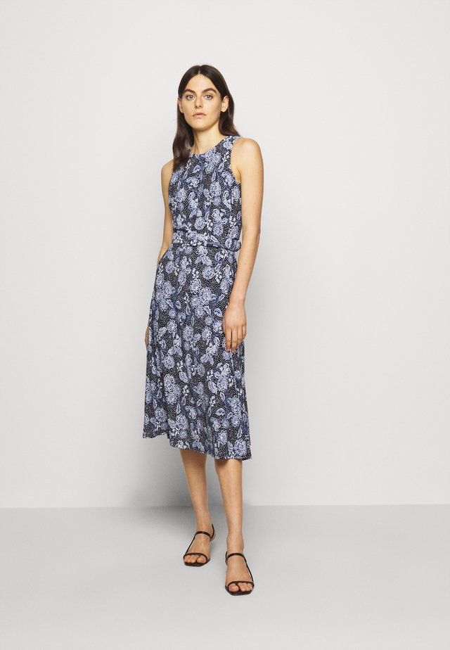 PRINTED MATTE DRESS - Jerseykjoler - navy/blue/colo
